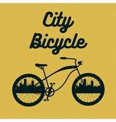 City Bicycle Vintage Bike Background vector image