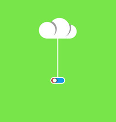 Cloud service concept poster wire with a switch vector