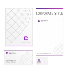 Corporate style template grid white vector