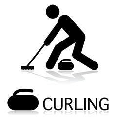 Curling icon vector image