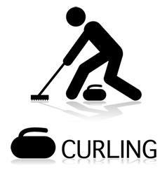 Curling icon vector