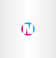 cyan magenta letter n symbol design element vector image vector image