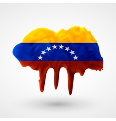 Flag of venezuela painted colors vector