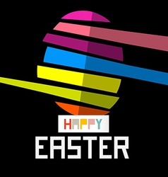 Happy easter egg on black background vector