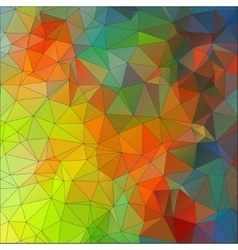 Mosaic triangle ornamental geometric background vector image vector image