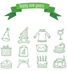New years element vector