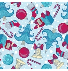 Pattern with Christmas elements vector image