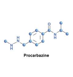 Procarbazine chemotherapy medication vector
