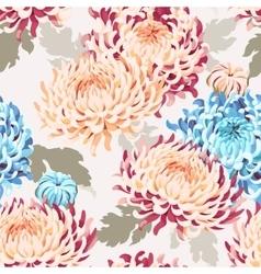 Seamless japanese chrysanthemum vector image