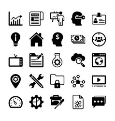 seo and digital marketing glyph icons 13 vector image vector image