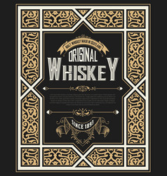 Vintage card for whiskey vector