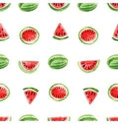 Watercolor watermelon pattern vector
