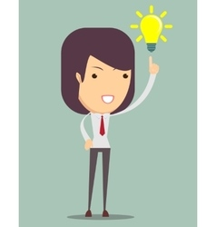Young business woman get an idea vector image