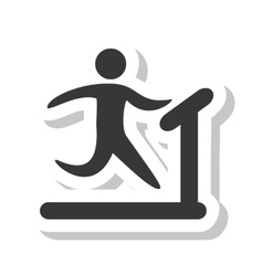 Human figure silhouette athlete icon vector