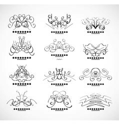 Calligraphic decoration elements for headline vector