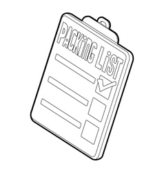 Clipboard with packing list icon vector