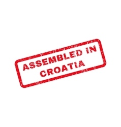 Assembled in croatia text rubber stamp vector