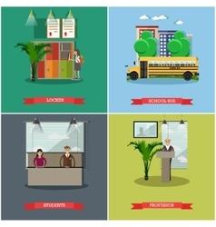 Set of school concept design elements in vector