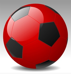 Red soccer ball vector