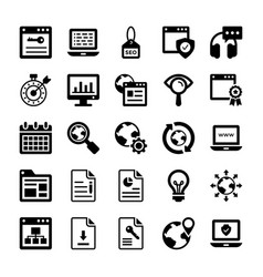 Seo and digital marketing glyph icons 14 vector