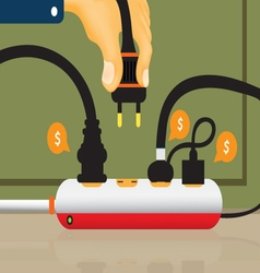 Electrical outlet and power outlet vector