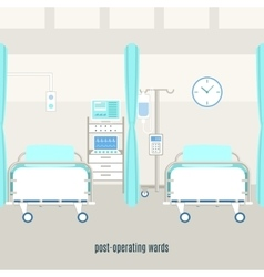 Medical post operating recovery ward poster vector