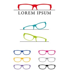 Glasses design template vector