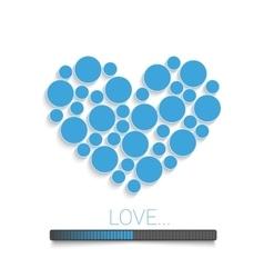 Creative Valentines bl vector image
