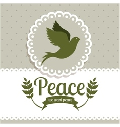 Message og peace design vector