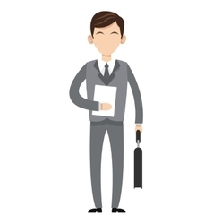 Caucasian businessman icon vector