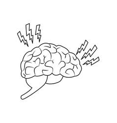 Abstract human brain injury stroke cartoon vector