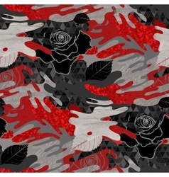 Abstract rose pattern vector image vector image