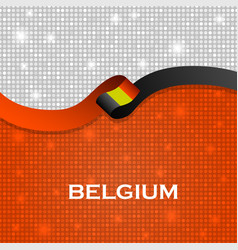Belgium flag ribbon shiny particle style vector
