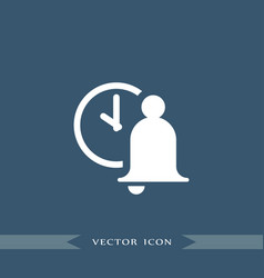 bell icon education vector image