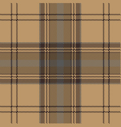Brown plaid check tartan seamless pattern vector