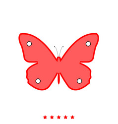 butterfly it is icon vector image vector image