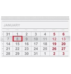 Calendar design vector image vector image