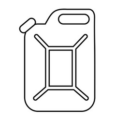 canister icon outline style vector image vector image