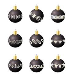 Christmas decoration balls vector image vector image