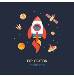 Cosmos Exploration poster vector image