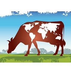 Cow earth vector