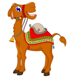 cute camel cartoon vector image vector image