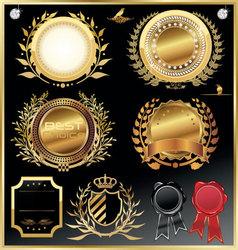 elegant luxury labels vector image vector image