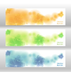 Flower background brochure template banner vector image