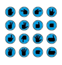 Gestures of hands vector image