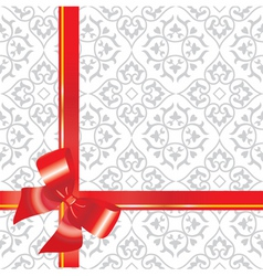 gift background with bow and r vector image