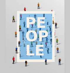 Group of people border design elements vector