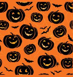Halloween seamless pattern holiday ornamental vector
