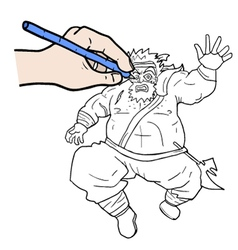 Hand vecctor drawing vector