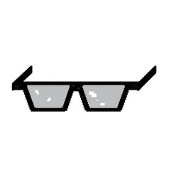 isolated pixelated glasses vector image